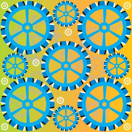 Blue Wheel Deal  (motion illusion) Ilustracja