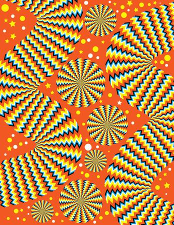 snaky: Zany Zigzags  (motion illusion) Illustration