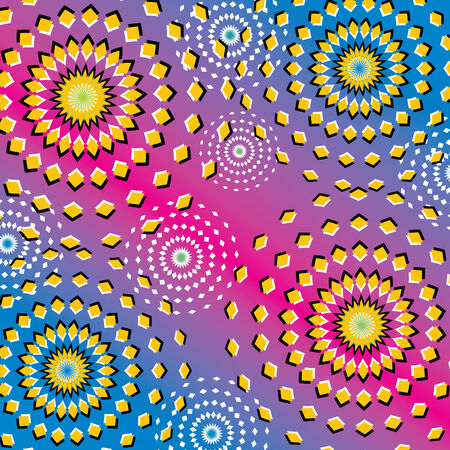 Riotous Ripples  (motion illusion) Vector