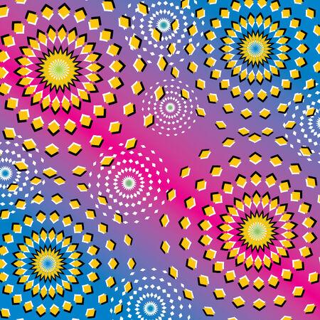 circles: Riotous Ripples  (motion illusion)