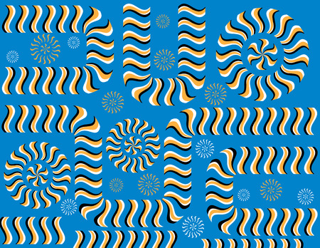 Just Keep Moving!  (motion illusion) Vector