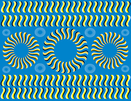 Assembly Line  (motion illusion) Vector