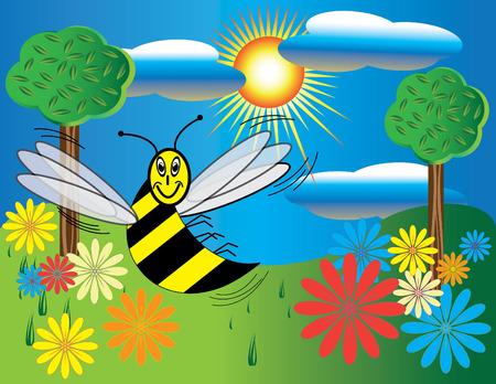 Bee World Vector
