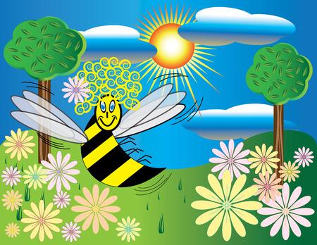girlie: Girlie Bee Illustration