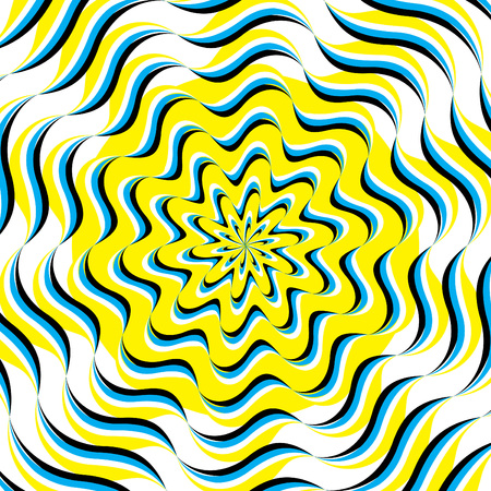 Ripple Waves  (motion illusion) Vector