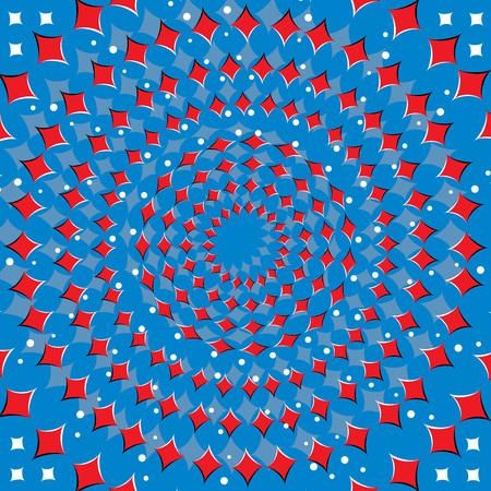 Red Diamond Spinner  (motion illusion)