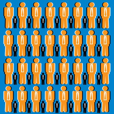 Businessmen Illusion Vector