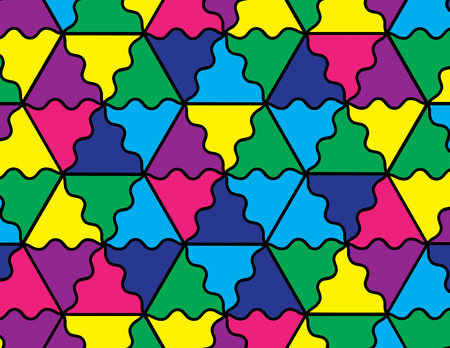 tessellated: Mosaic Background Illustration