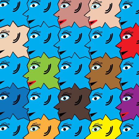 tessellated: Diversity Illustration