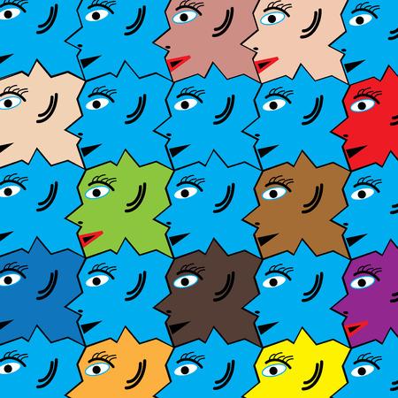 Diversity Stock Vector - 8746194