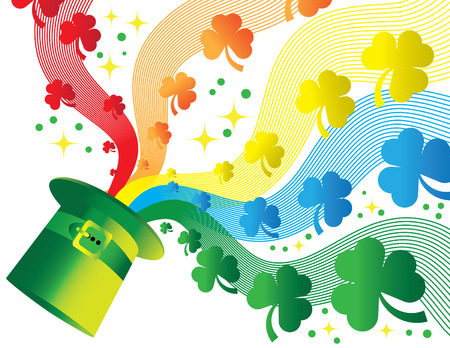 Shamrock Rainbow Vector