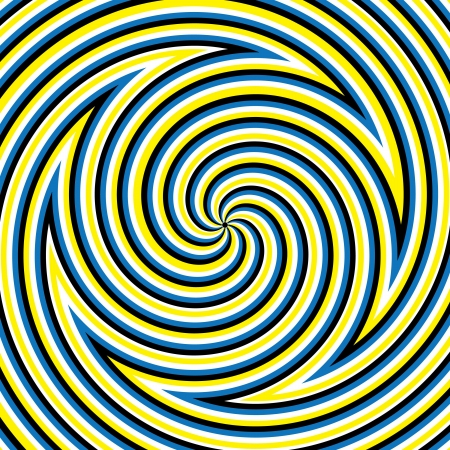 spiral: Hypnotische doolhof Stock Illustratie