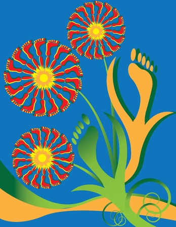 Foot Fetish Floral Vector