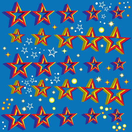 Floating 3D Stars