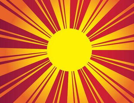 Deco Sun Stock Vector - 9464772