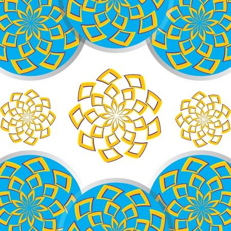 Floral Disk Fantasy Vettoriali