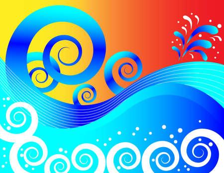 Sunset Surf Illustration