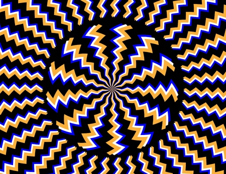 optical illusion: Hypnotizer Illustration