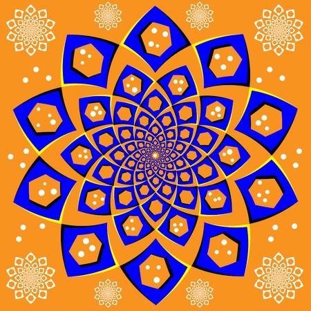 Blue Floral Spinner