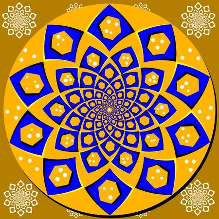 spin: Spin Floral Disk Illustration