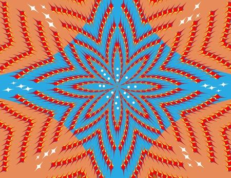 Floral Illusion Иллюстрация