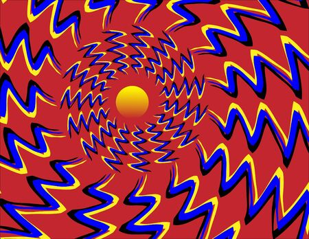 circle shape: Sunset Snake Dance