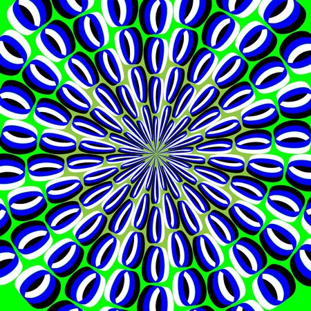 Psychedelic Peacock (motion illusion) Vector
