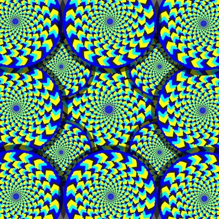 op art: Wacky Wheelies (motion illusion) Illustration