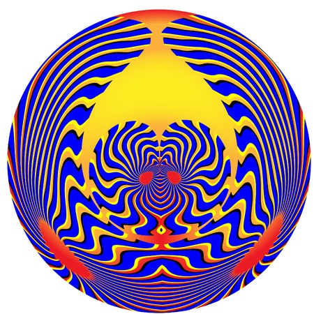Mystic Tribal Sphere  (motion illusion) photo