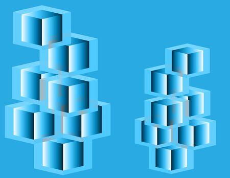 Glass Cube Presentation Vector