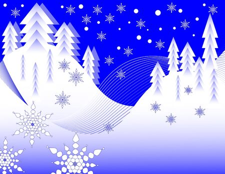holiday background: Snow Scene