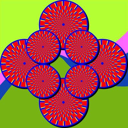 discs: Spinscape  (motion illusion) Illustration