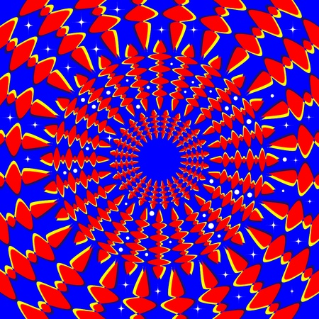 spinning: Starry Spin Rings (motion illusion) Illustration
