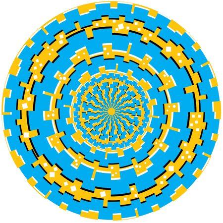 pulsation: Tech Ring Trauma  (motion illusion) Stock Photo