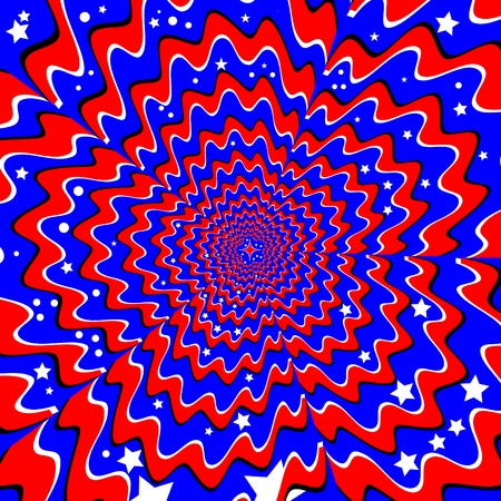 Stars and Stripes  (motion illusion) Vector