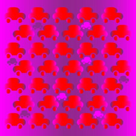 Red Car Riot  (motion illusion)