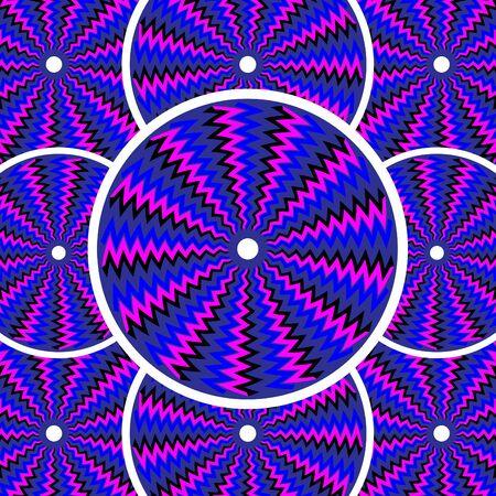 discs: Roll Models  (motion illusion) Illustration