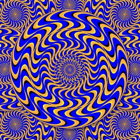 rotating: Mystic Motion Wheels  (motion illusion) Illustration