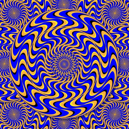 Mystic Motion Wheels  (motion illusion) Çizim