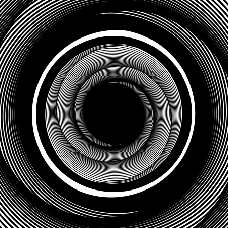 black hole: Down the Drain Illustration