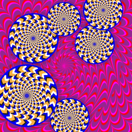 Whirling Wheelies  (motion illusion) photo