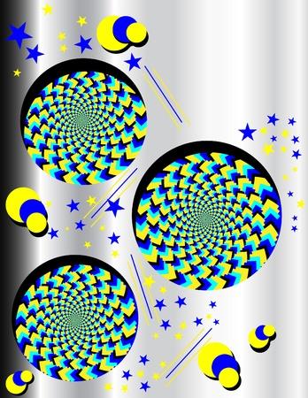 Metallic Wheelie Display  (motion illusiion)