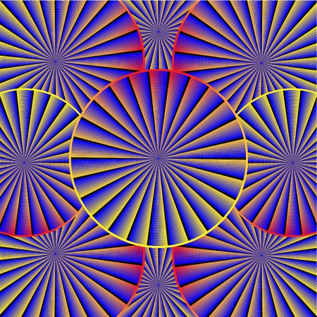 Spinning Pattern   motion illusion  Stock Vector - 12491447