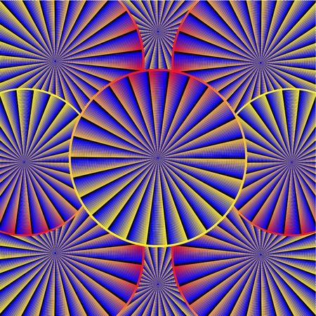 Spinning Pattern   motion illusion  Иллюстрация