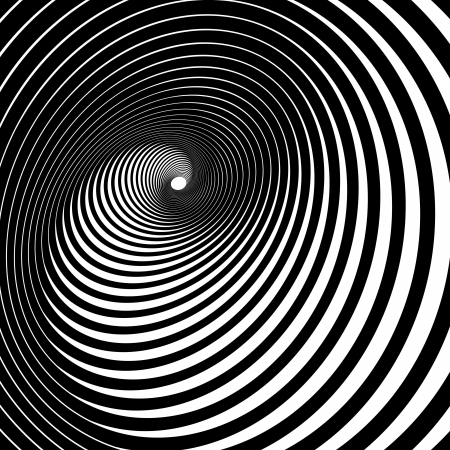 Hypnotic Spiral Illustration