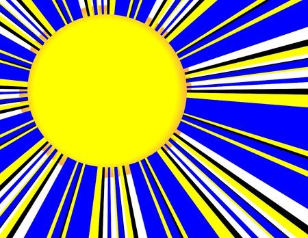 Sunburst Blue Иллюстрация