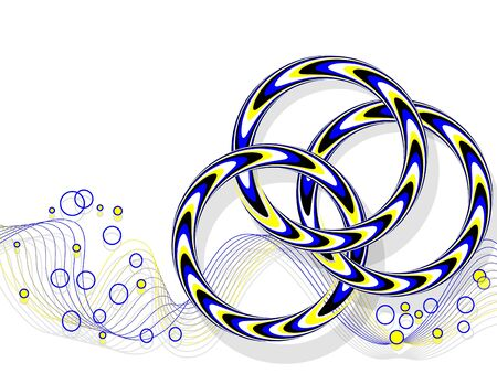 linked: Three-ring  Illusion Illustration