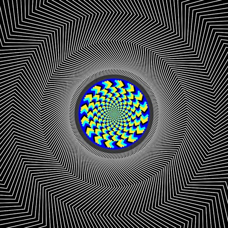 Dazzle Disk Illusion Vector