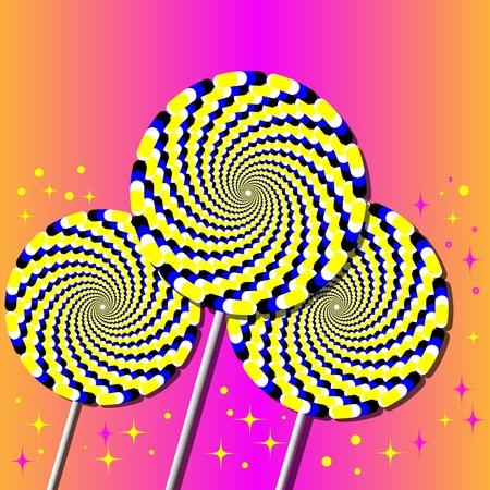 Pinwheel Lollipops Illusion Ilustracja