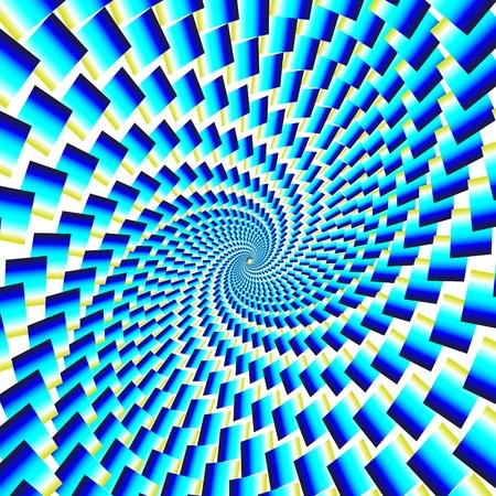 rotating: Tile Tornado Illusion Illustration
